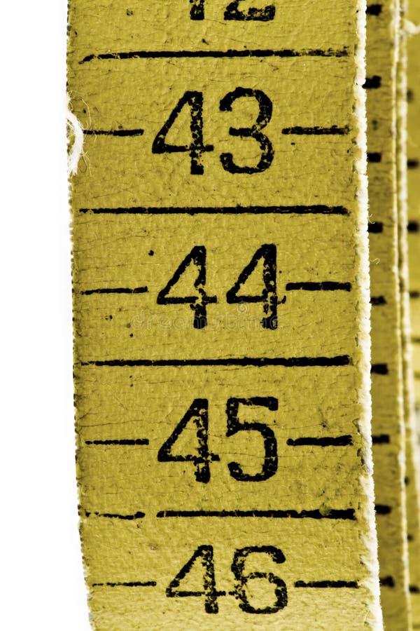 Vieille bande de mesure images stock