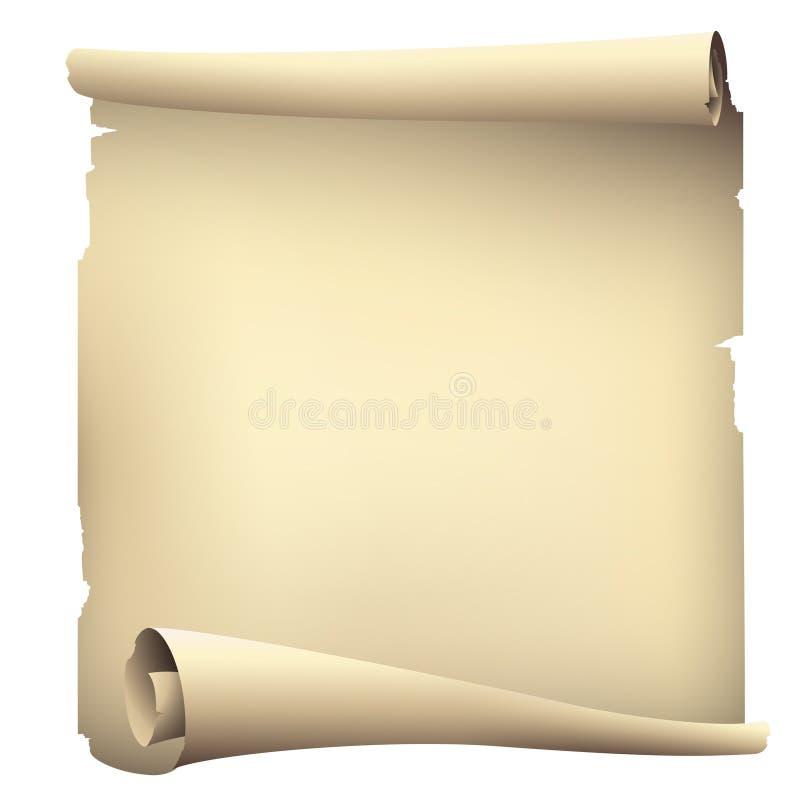 Vieille bannière de papier de rouleau illustration de vecteur