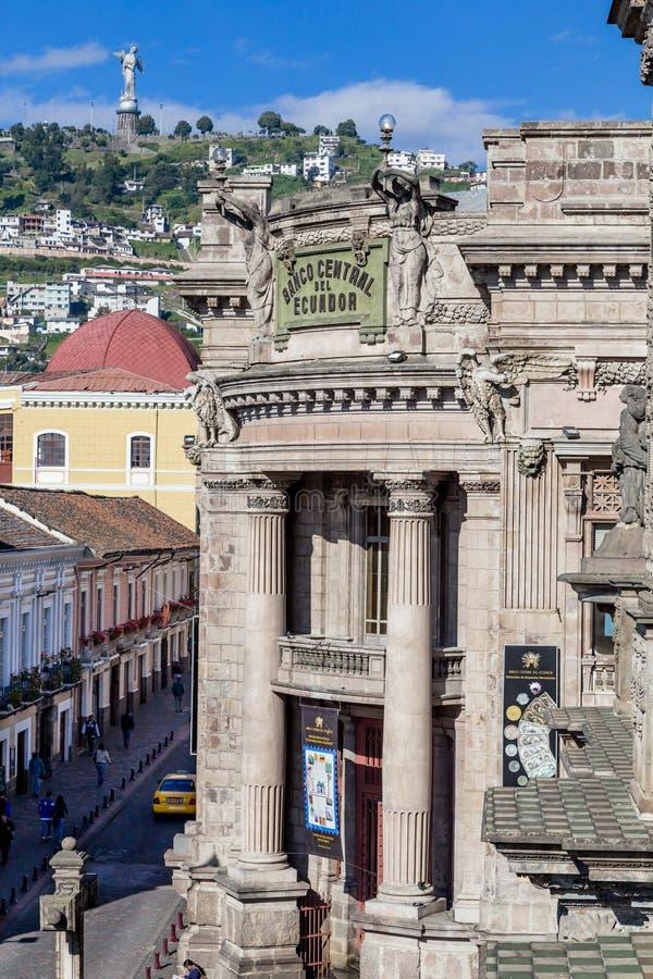 Vieille banque centrale à Quito Equateur Amérique du Sud images stock