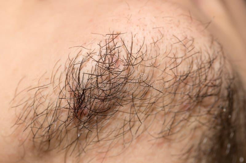 Vieille barbe de sept jours Vieille barbe de sept jours sur un mâle caucasien photo libre de droits