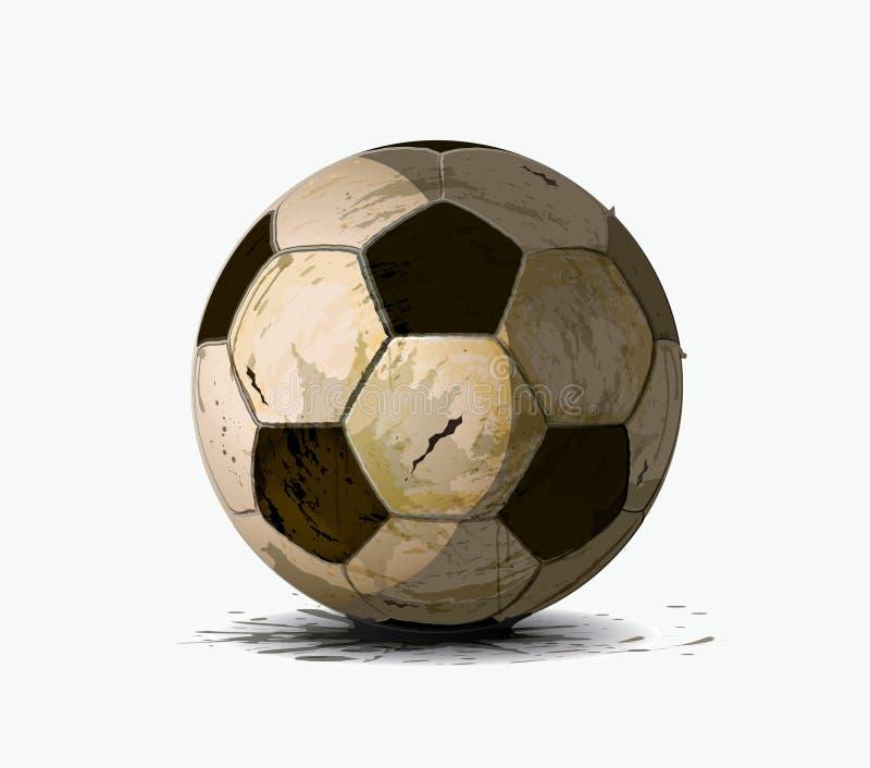 Vieille bille de football illustration libre de droits