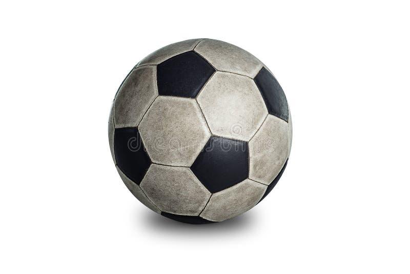 Vieille bille de football photo libre de droits
