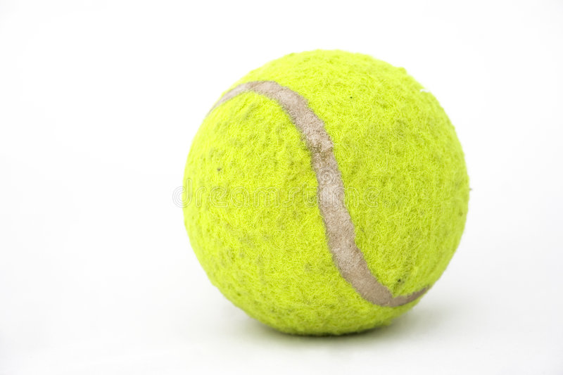 Vieille bille de tennis photographie stock libre de droits