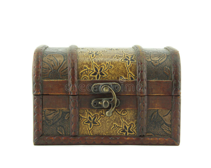 Vieille boîte en bois image libre de droits