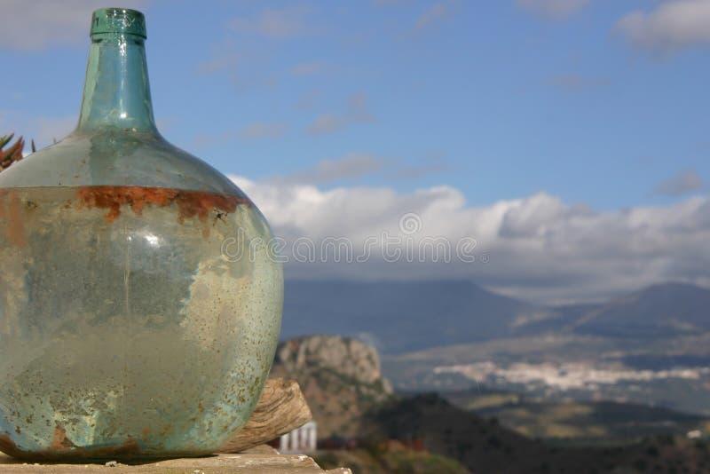 Vieille bouteille en verre photographie stock