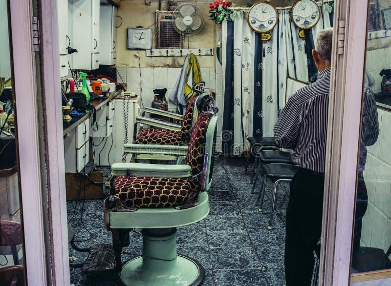 Vieille boutique de barber's photos libres de droits