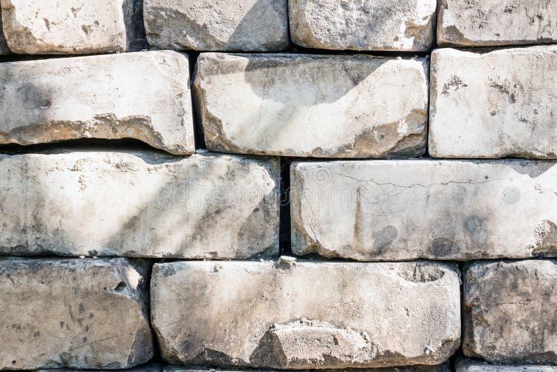 Vieille brique faite en brique blanche photo stock