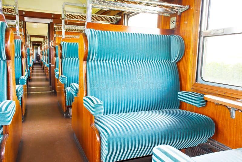 Vieille cabine de chariot de première classe photos stock