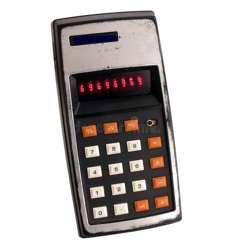 Vieille calculatrice photographie stock