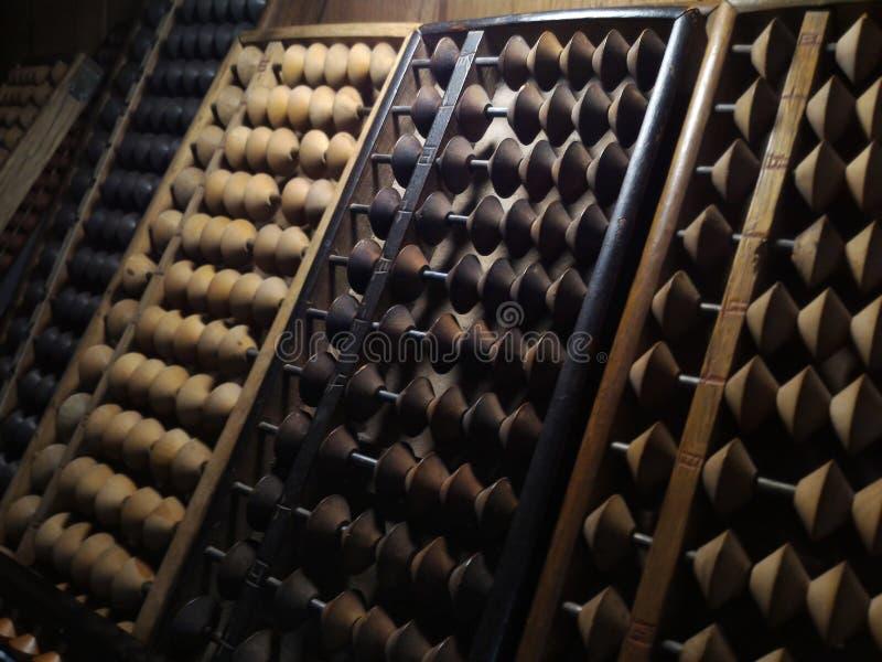 Vieille calculatrice antique d'ABAQUE image libre de droits