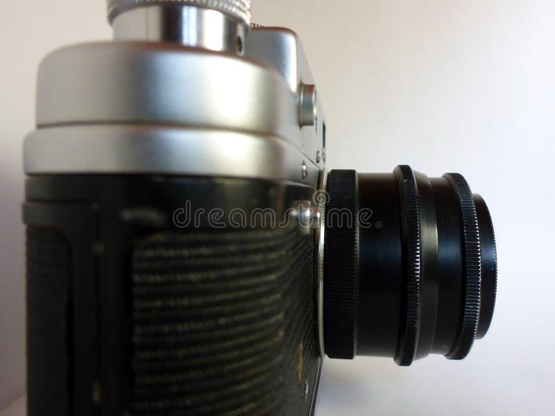 Vieille caméra de photo de cru sur le fond blanc photographie stock libre de droits