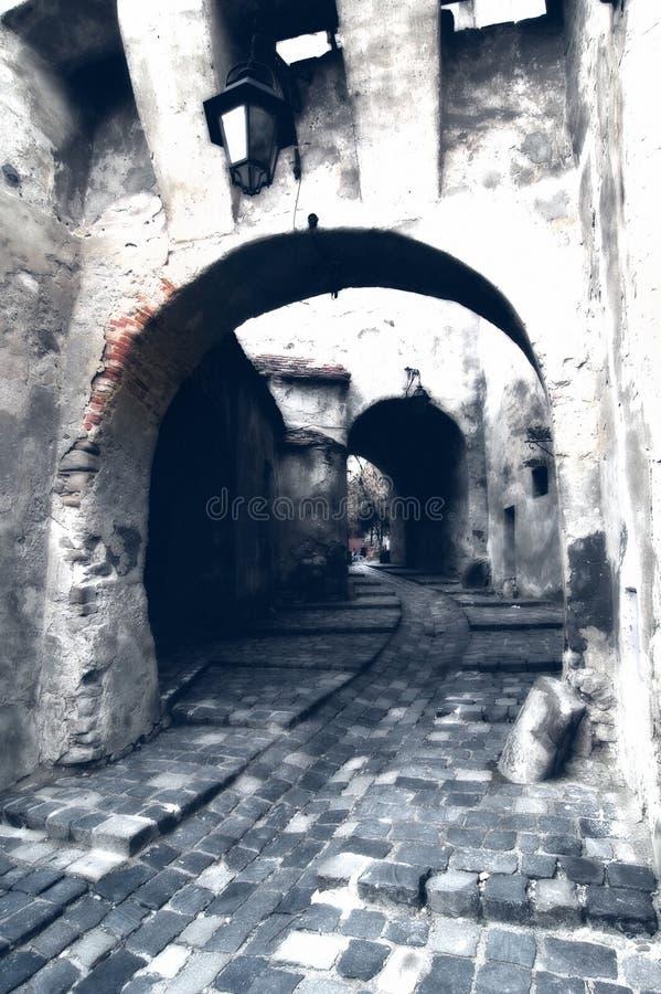 Download Vieille canalisation image stock. Image du gothique, cobbled - 732107