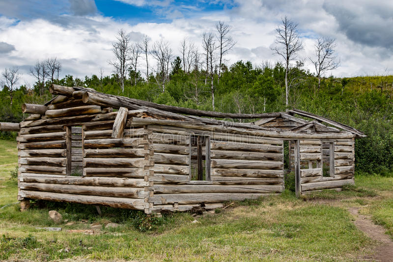 Vieille carlingue au Wyoming image libre de droits