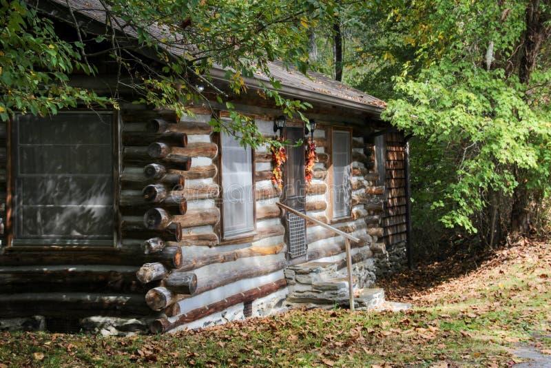 Vieille carlingue dans l'automne photographie stock libre de droits