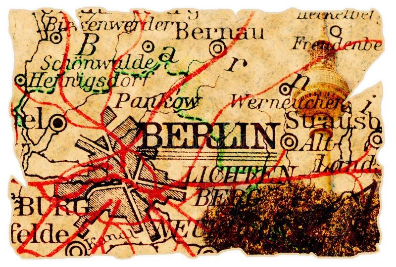 Vieille carte de Berlin images libres de droits