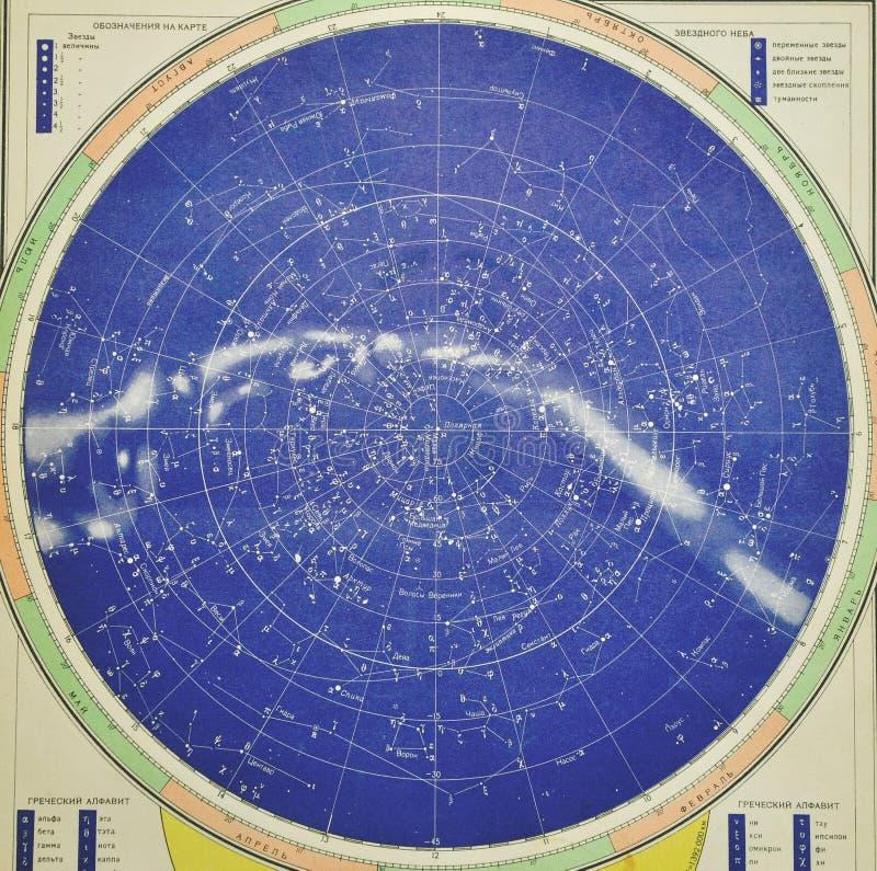Vieille carte de ciel photographie stock libre de droits