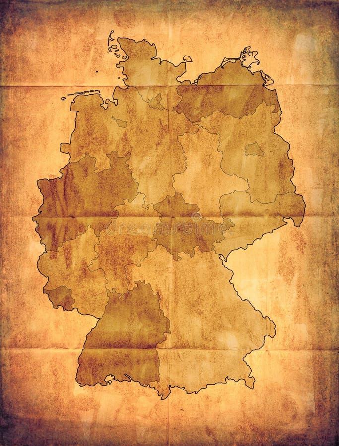 Vieille carte de l'Allemagne photographie stock