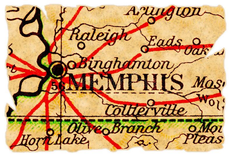 Vieille carte de Memphis images libres de droits
