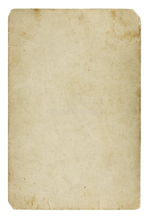 Vieille carte de papier blanc photographie stock