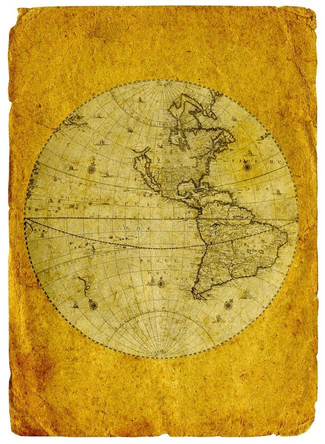 vieille carte de papier du monde photo stock image du cadre endommag 16592734. Black Bedroom Furniture Sets. Home Design Ideas