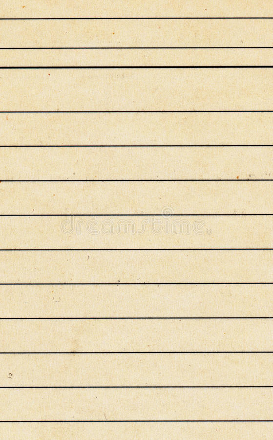 Vieille carte de papier utilisée de catalogue d'index avec la ligne fond photos libres de droits
