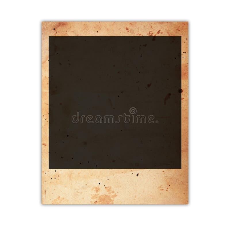 Vieille carte de photo photographie stock libre de droits