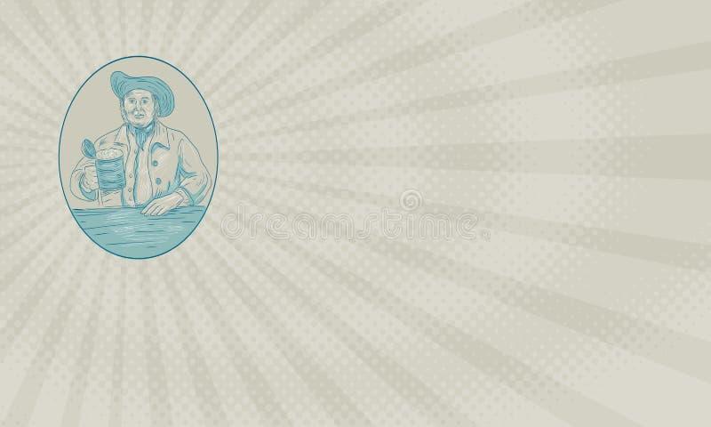 Vieille carte de Pub Business de cocher illustration stock