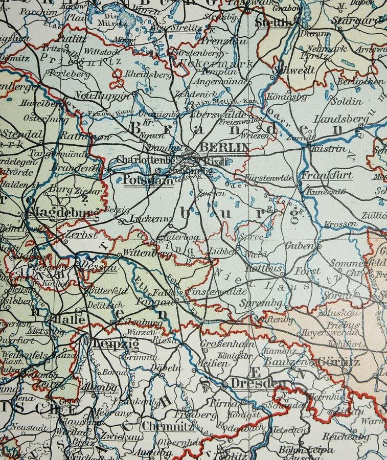 Vieille carte de région de Berlin image libre de droits