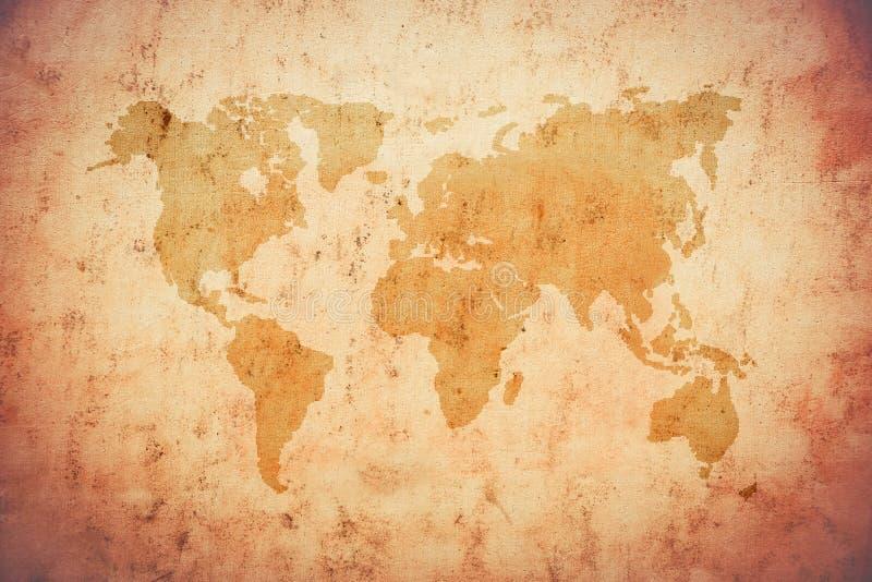 Vieille carte du monde image libre de droits