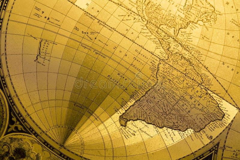 Vieille carte du monde image stock