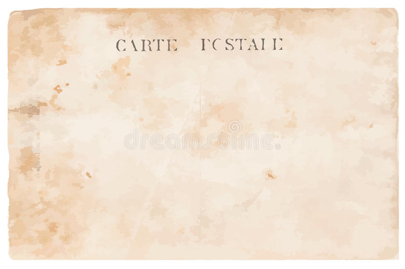 Vieille carte postale illustration stock
