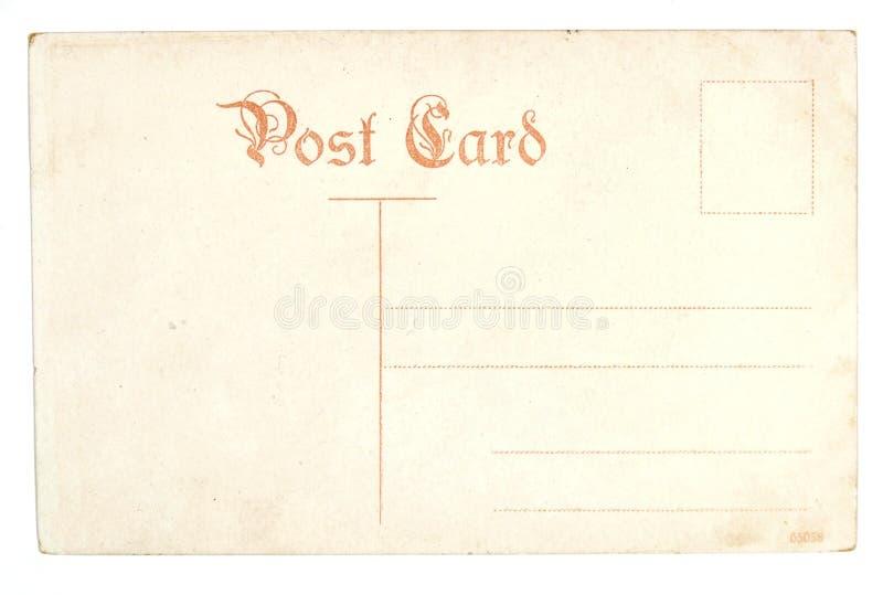 Vieille carte postale vide antique photographie stock libre de droits