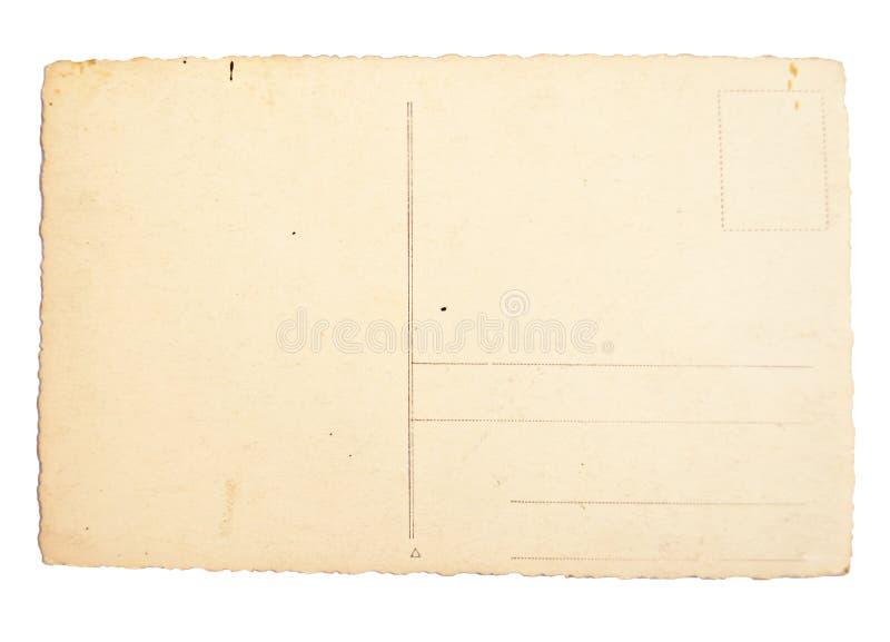 Vieille carte postale vide balayée avec la haute résolution photos libres de droits