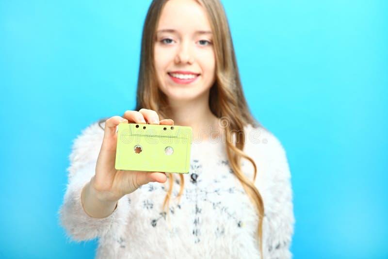Vieille cassette compacte photographie stock libre de droits