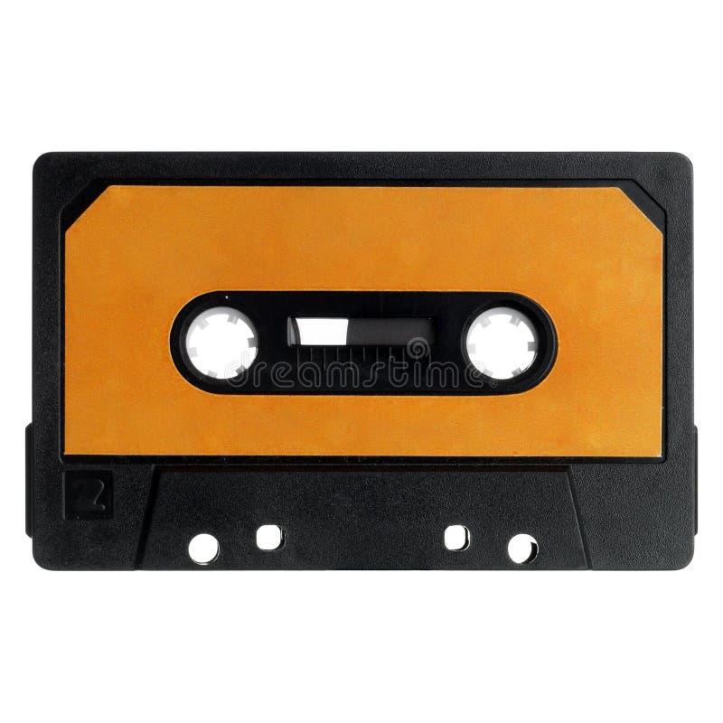 Vieille cassette d'isolement sur le blanc image stock