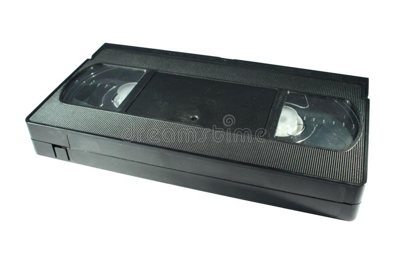 Vieille cassette de VHS d'isolement sur le blanc photo libre de droits