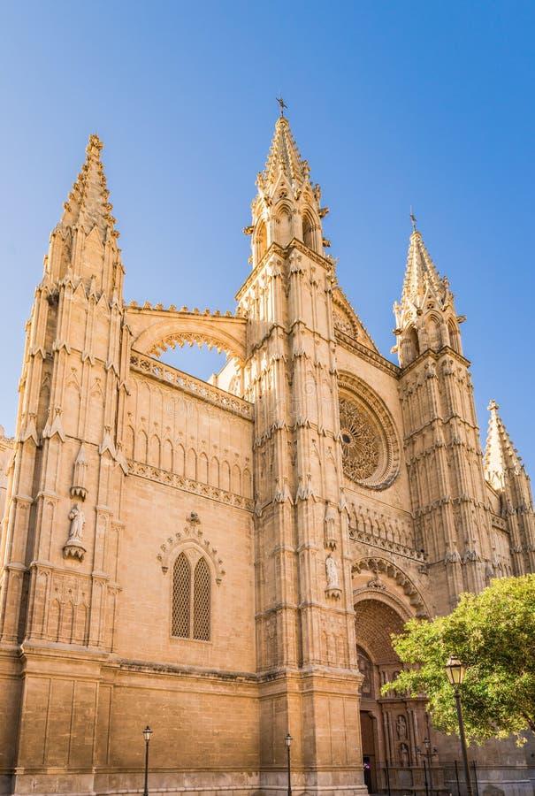 Vieille cathédrale historique de Palma de Mallorca image stock