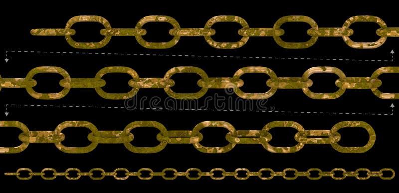 Vieille chaîne de rouille illustration de vecteur