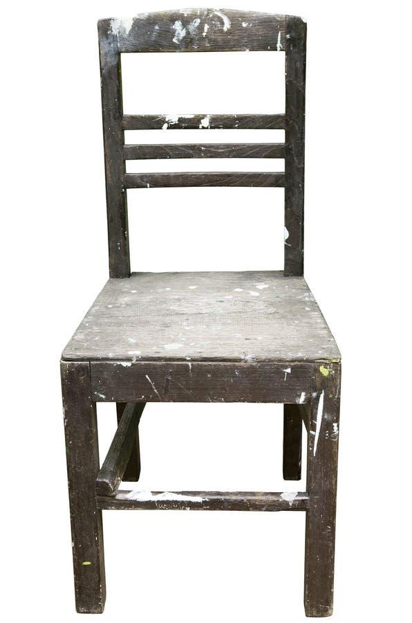 vieille chaise en bois de vintage d 39 isolement sur le fond blanc image stock image du meubles. Black Bedroom Furniture Sets. Home Design Ideas