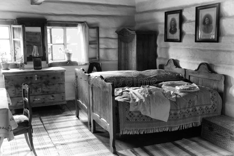Vieille chambre à coucher image libre de droits