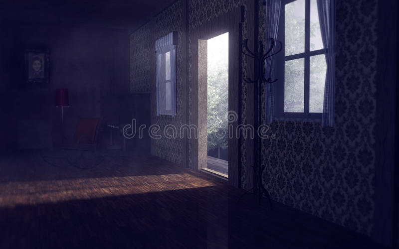 Vieille Chambre illustration stock
