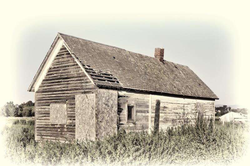 Vieille Chambre abandonnée de ferme photographie stock