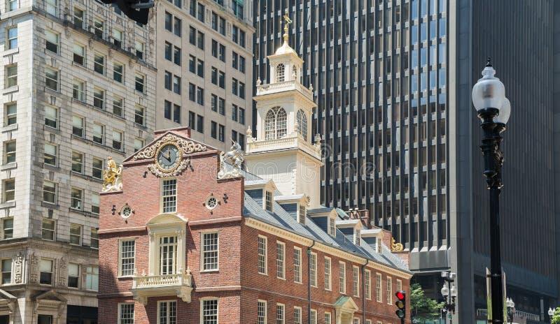 Vieille Chambre d'état dans la traînée de liberté de Boston images stock
