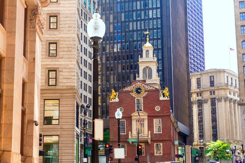 Vieille Chambre d'état de Boston dans le Massachusetts photos libres de droits