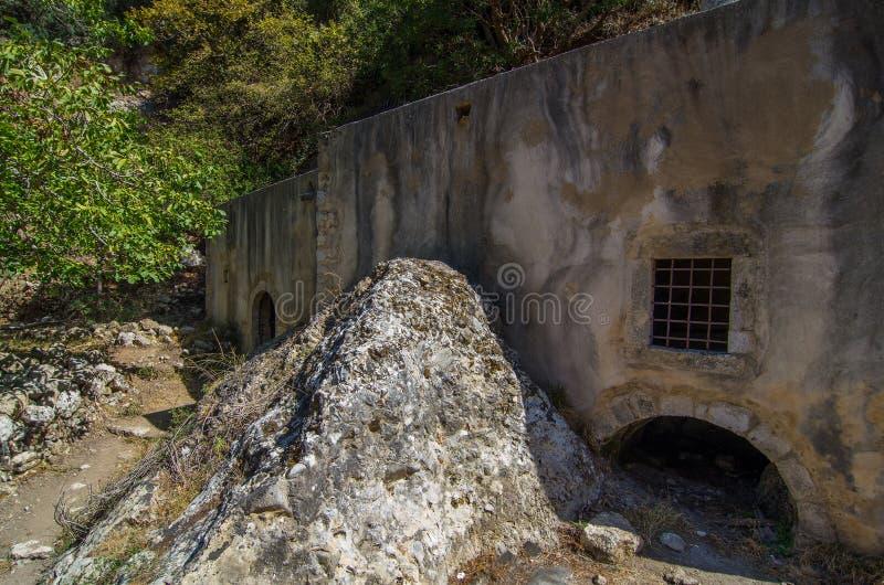 Vieille Chambre dans Mili, Crète, Grèce photo libre de droits