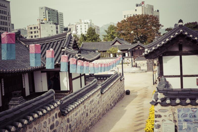 Vieille Chambre de la Corée au village de Namsangol Hanok à Séoul Corée du Sud image libre de droits