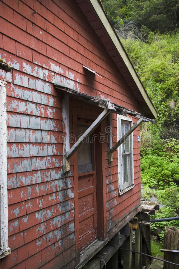 Vieille Chambre rouge Ketchikan Alaska images stock