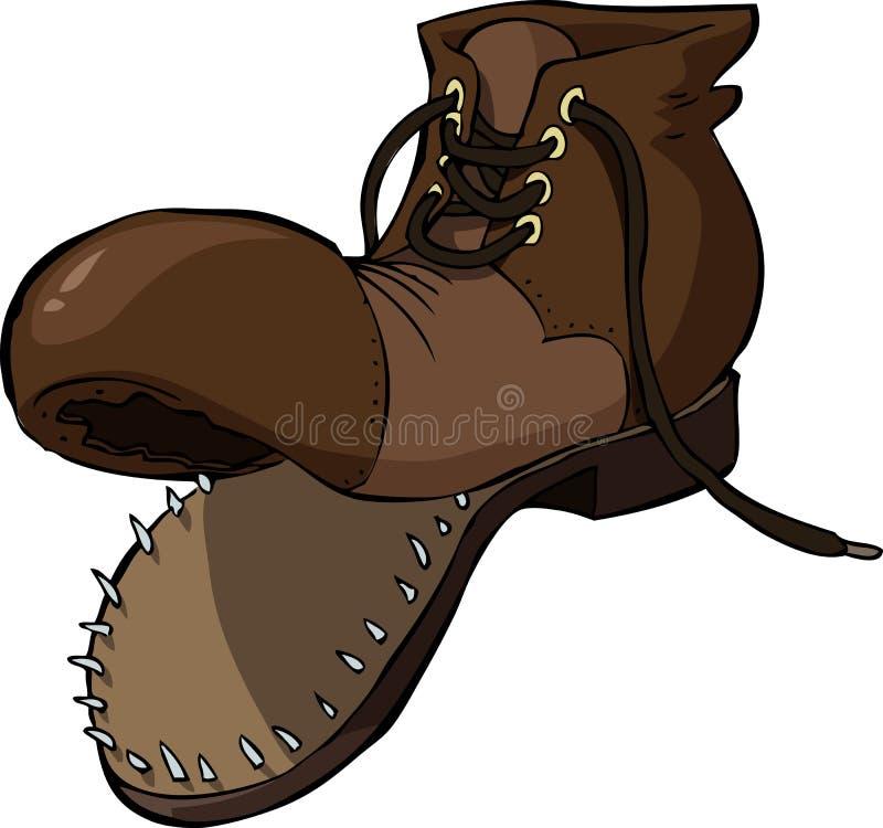 Vieille chaussure illustration libre de droits