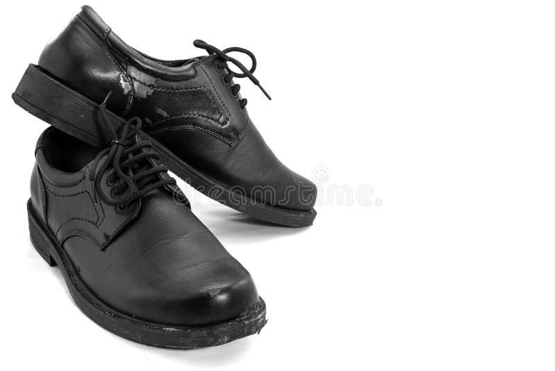 vieille chaussure d'isolement photos libres de droits