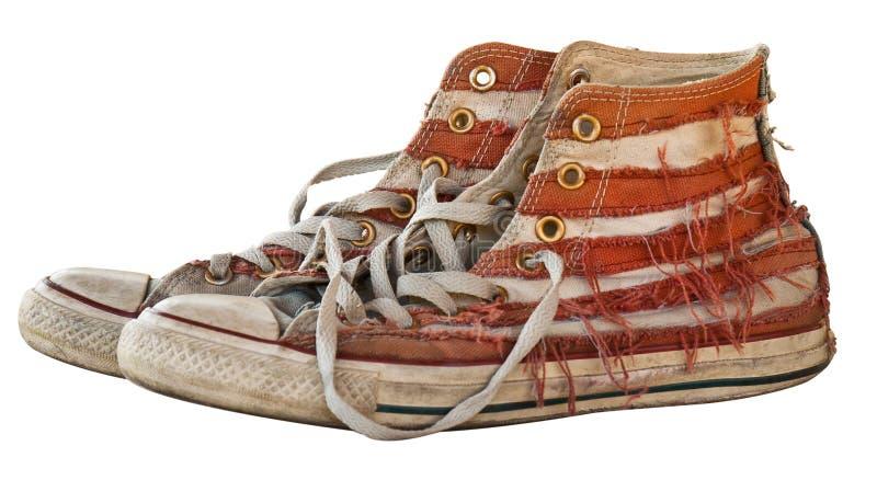 Vieille chaussure dans d'isolement photographie stock libre de droits